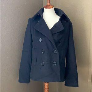 J. Crew Women's Black Pea Coat size M